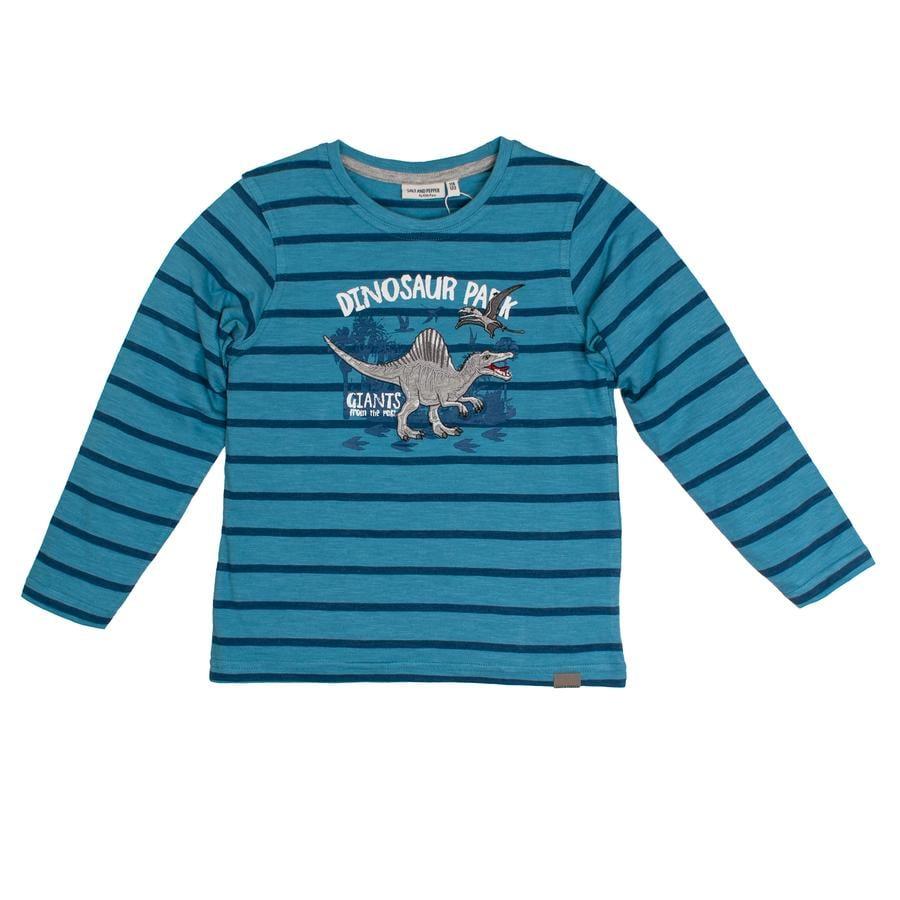 SALT AND PEPPER Boys Koszula z długim rękawem Dziki, jeden niebieski niagara