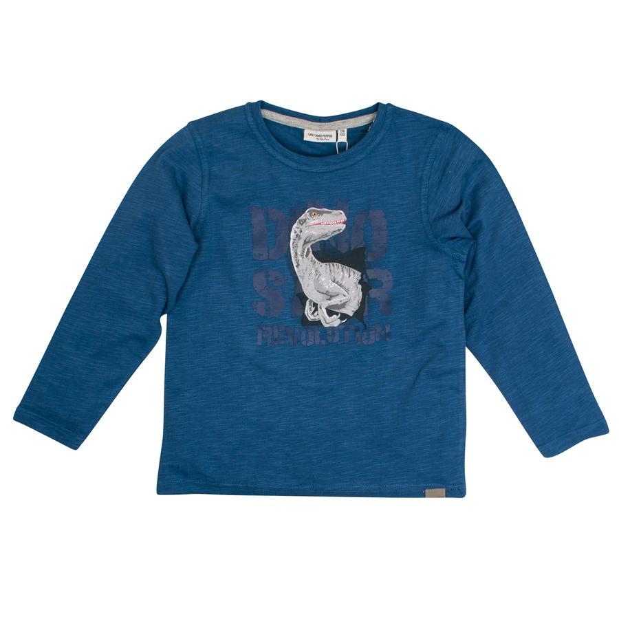 SALT AND PEPPER Boys Shirt met lange mouwen Wild one inkt blauw