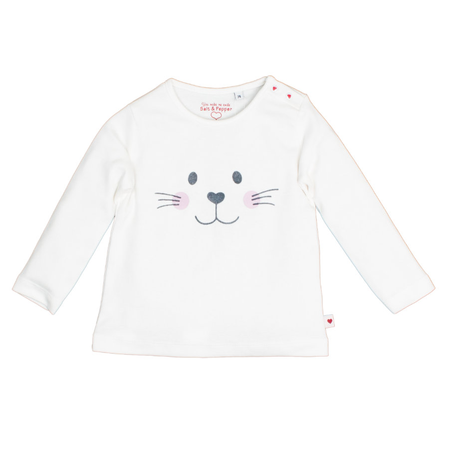SALT AND PEPPER Girls  Langarmshirt Schatz white