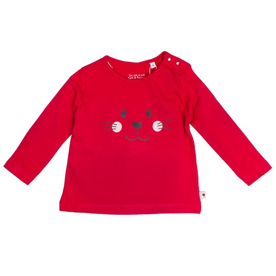 SALT AND PEPPER Girl s lange mouw shirt schattige lippenstift rood