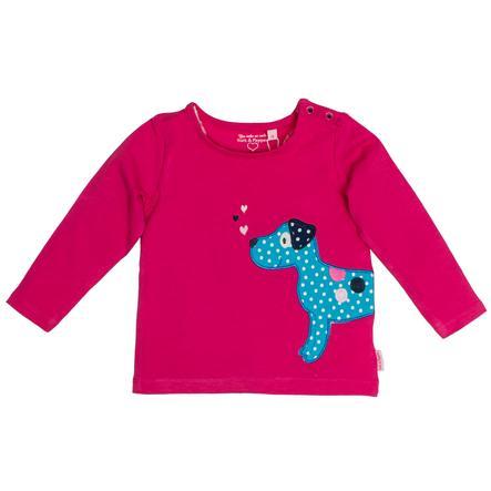 SALT AND PEPPER Overhemd met lange mouwen Happy uni hond magenta