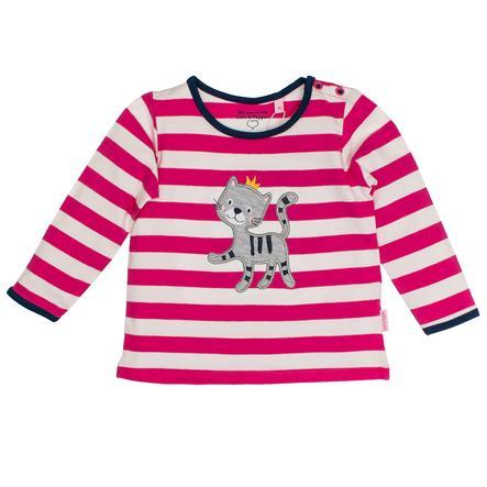 SALT AND PEPPER Girl koszulka z długim rękawem Happy Stripe Magenta