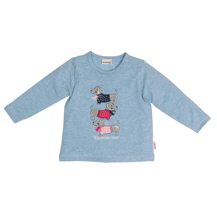 SALT AND PEPPER  Långärmad t-shirt för tjejer Mon Amie Dogs Sky melange