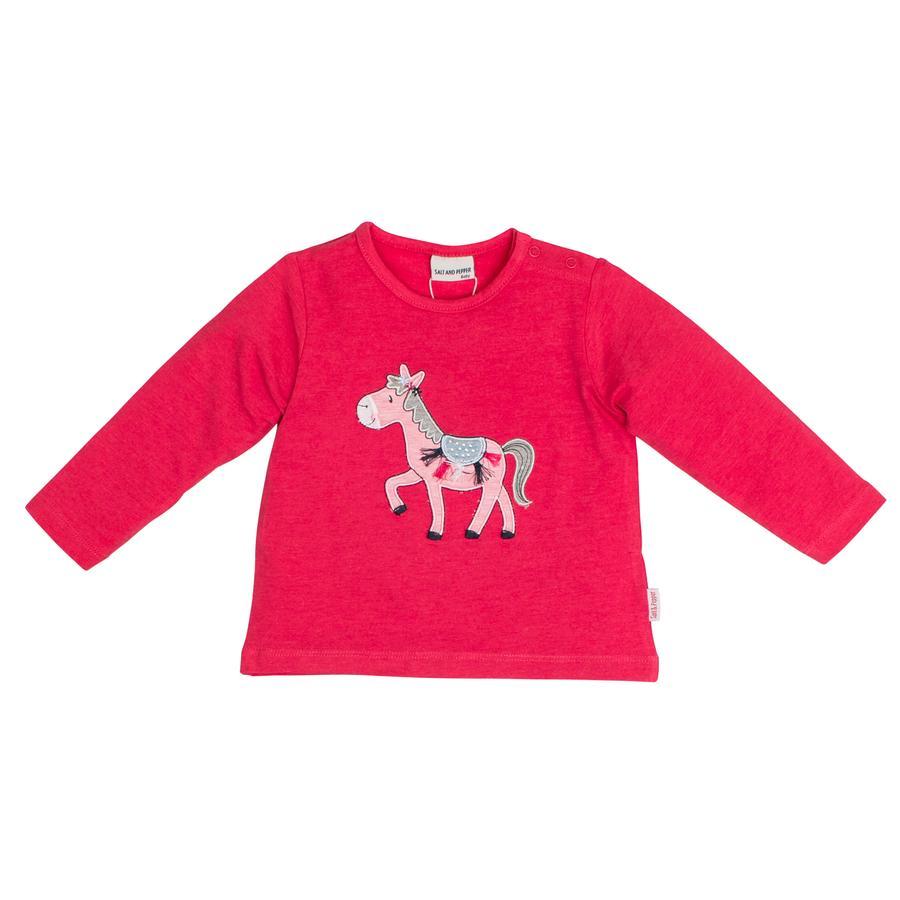SALT AND PEPPER Girl s Camisa de manga larga Mon Amie Donkey paradise rosa