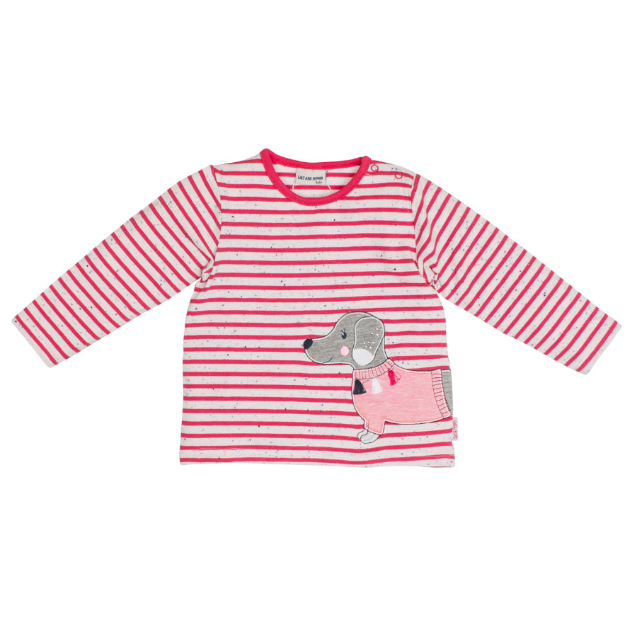 SALT AND PEPPER Girl s Chemise manches longues Mon Amie à rayures rose paradisiaque