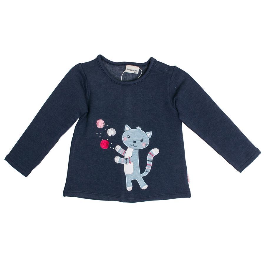 SALT AND PEPPER Girl s Sweatshirt Mon Amie cat crown blauw