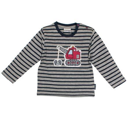 SALT AND PEPPER Boys Camisa manga larga Little Man rayas corona azul