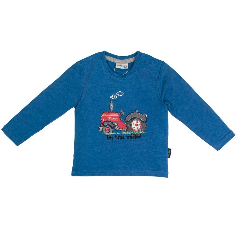 SALT AND PEPPER Boys Langarmshirt Little Man Appli strong blue