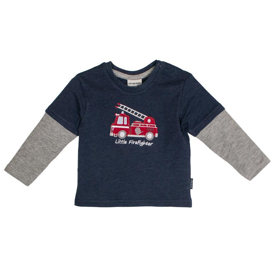SALT AND PEPPER Boys Camisa manga larga Little Man 2in1 azul fuerte