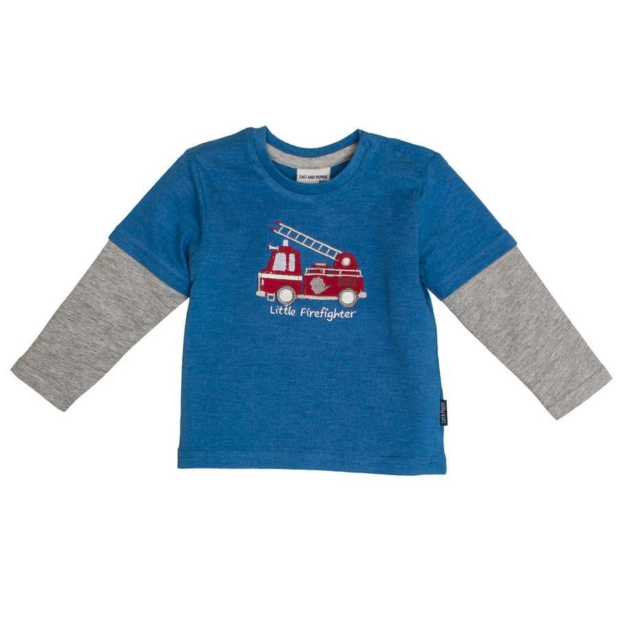 SALT AND PEPPER Boys Koszulka z długim rękawem Little Man 2in1 Korona niebieska