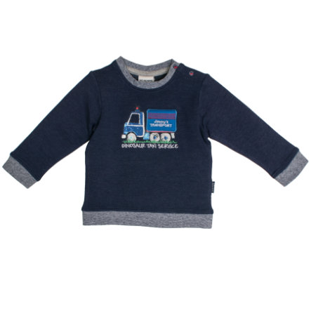 SALT AND PEPPER Boys Sweatshirt Little Man uni couronne uni bleu