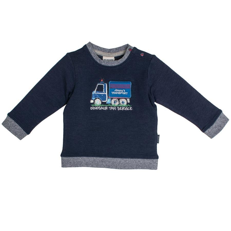 SALT AND PEPPER Boys Sweatshirt Kleine Man uni kroon blauw