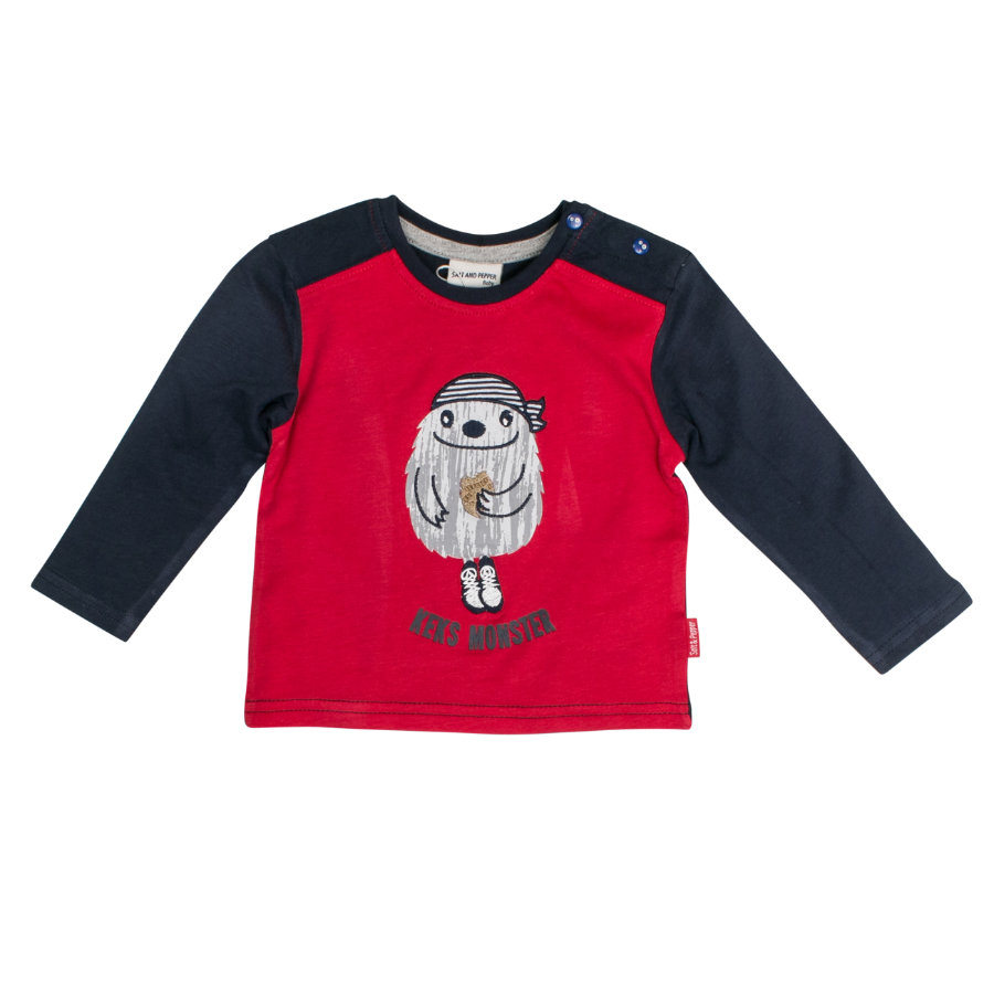 SALT AND PEPPER Boys Lange mouw shirt Monster koekje rood