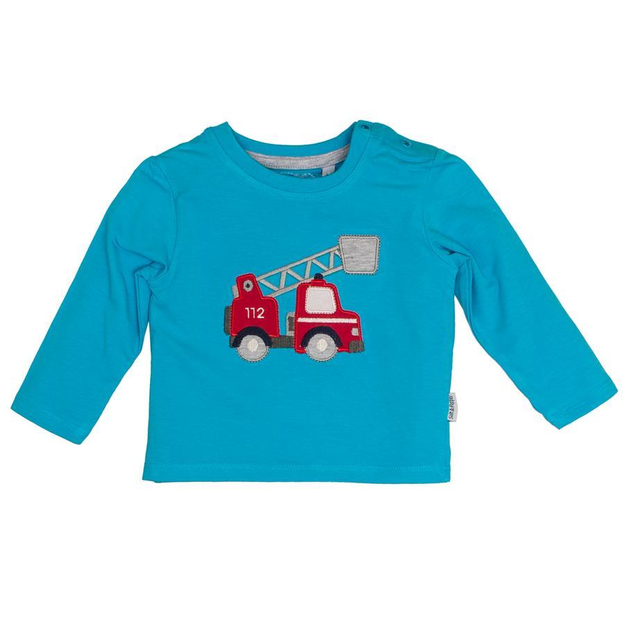 SALT AND PEPPER Boys Koszula z długim rękawem Samochody Curacao Blue