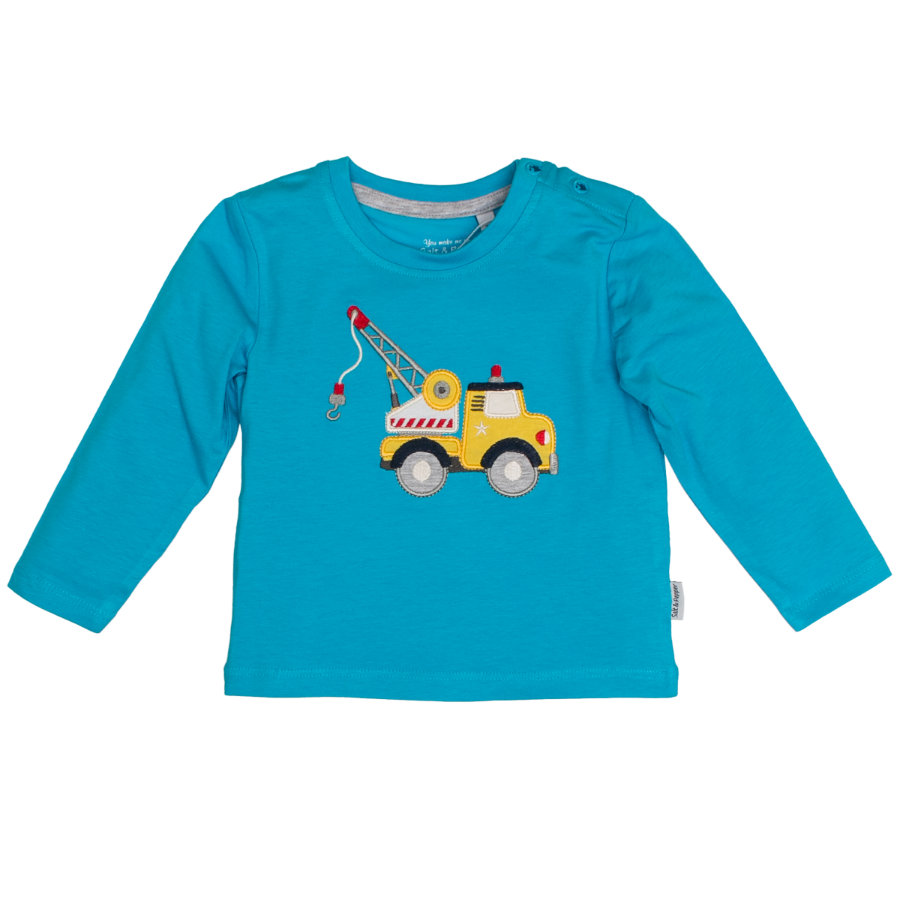 SALT AND PEPPER Boys Langarmshirt Kran curacao blue