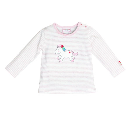SALT AND PEPPER Chemise manches longues Baby luck rose mélangée douce