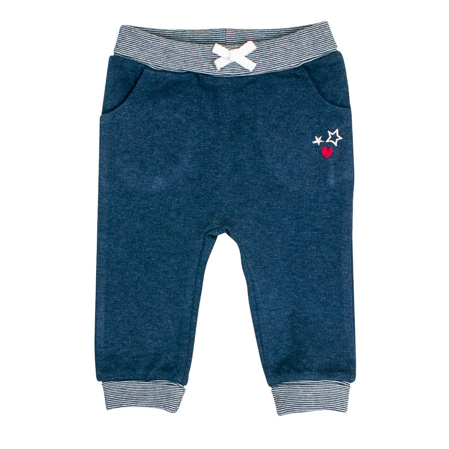 SALT AND PEPPER Pantaloni da jogging bebè fortuna blu indaco melange melange