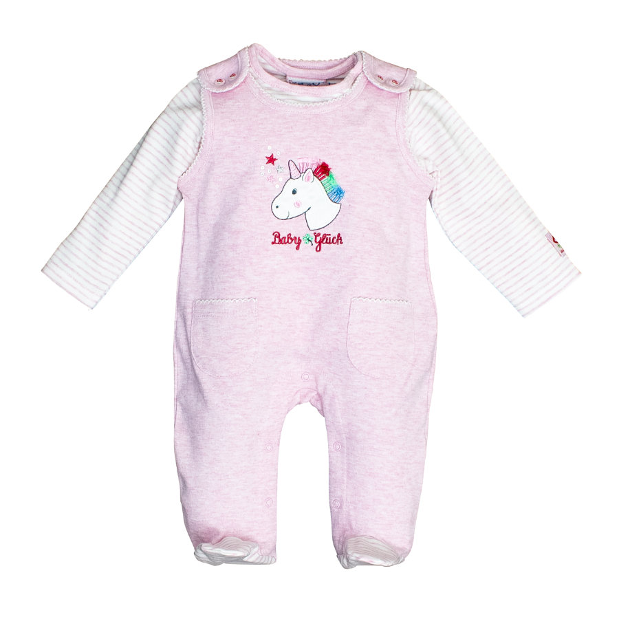 SALT AND PEPPER Playsuit Babyglück sweet rose melange unicorn