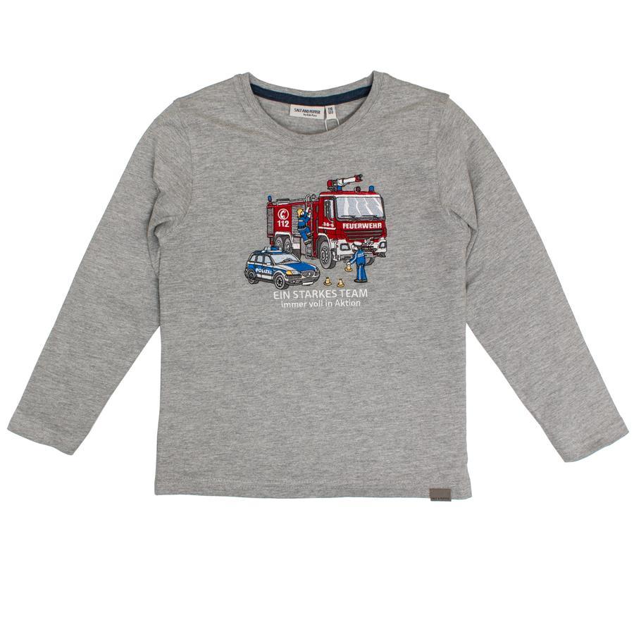 SALT AND PEPPER Camicia manica lunga Rescue Grey Melange Grigio Rescue