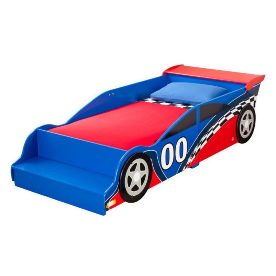 Kidkraft lit enfant voiture de course 70 x 140 cm - Lit enfant voiture de course ...