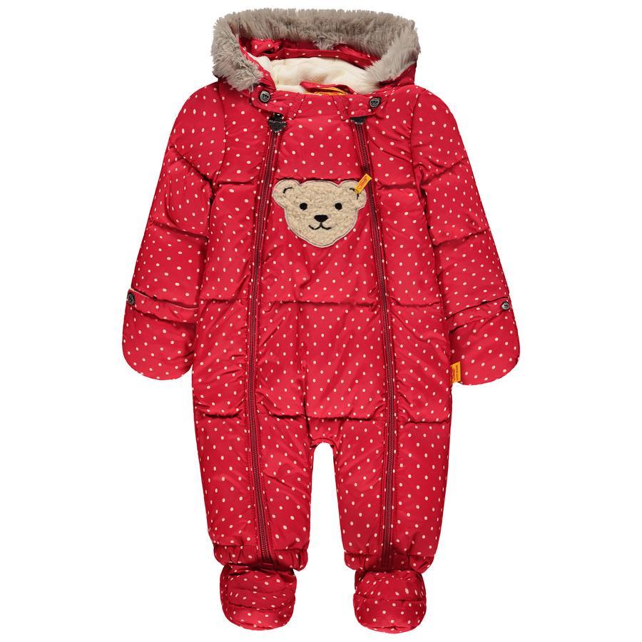 Steiff snø-overall, rød