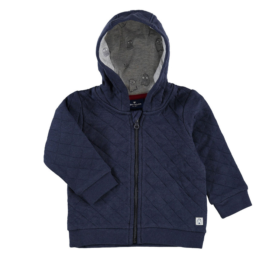 Veste Boys sweat TOM TAILOR Bleu marine véritable