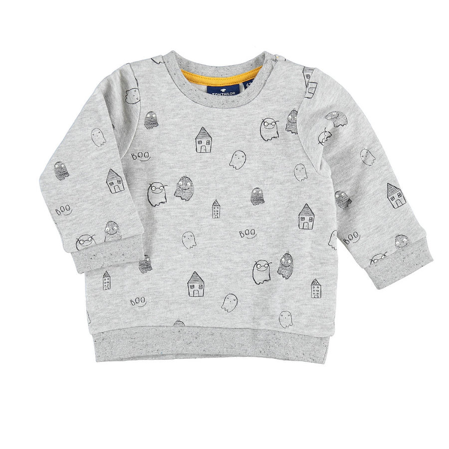 TOM TAILOR Boys sweatshirt fantômes melange argent clair