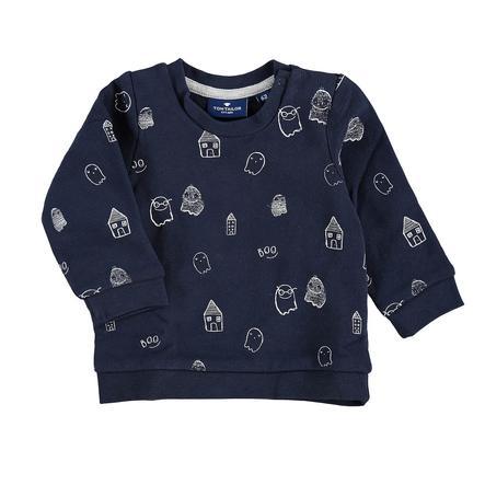 TOM TAILOR Boys Sweatshirt Real Navy Blue