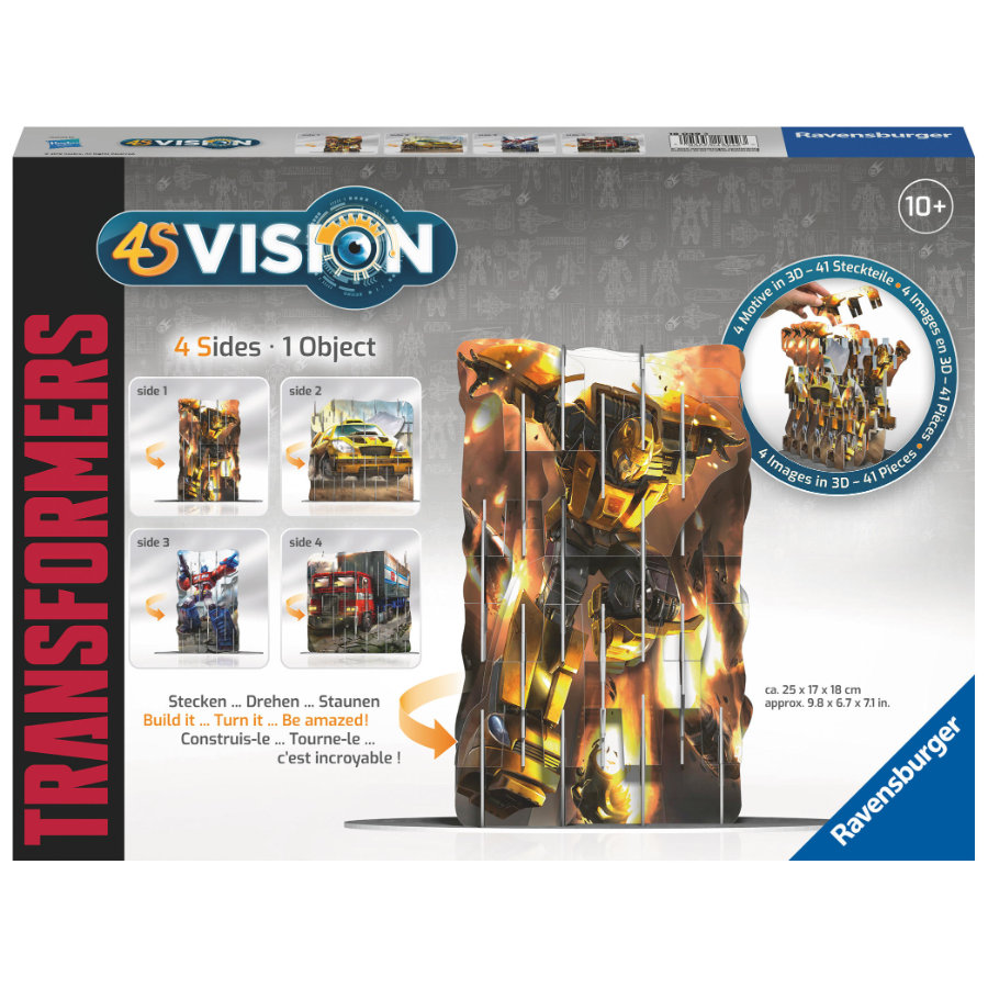 Ravensburger 4S Vision plugging-in game - Transformers