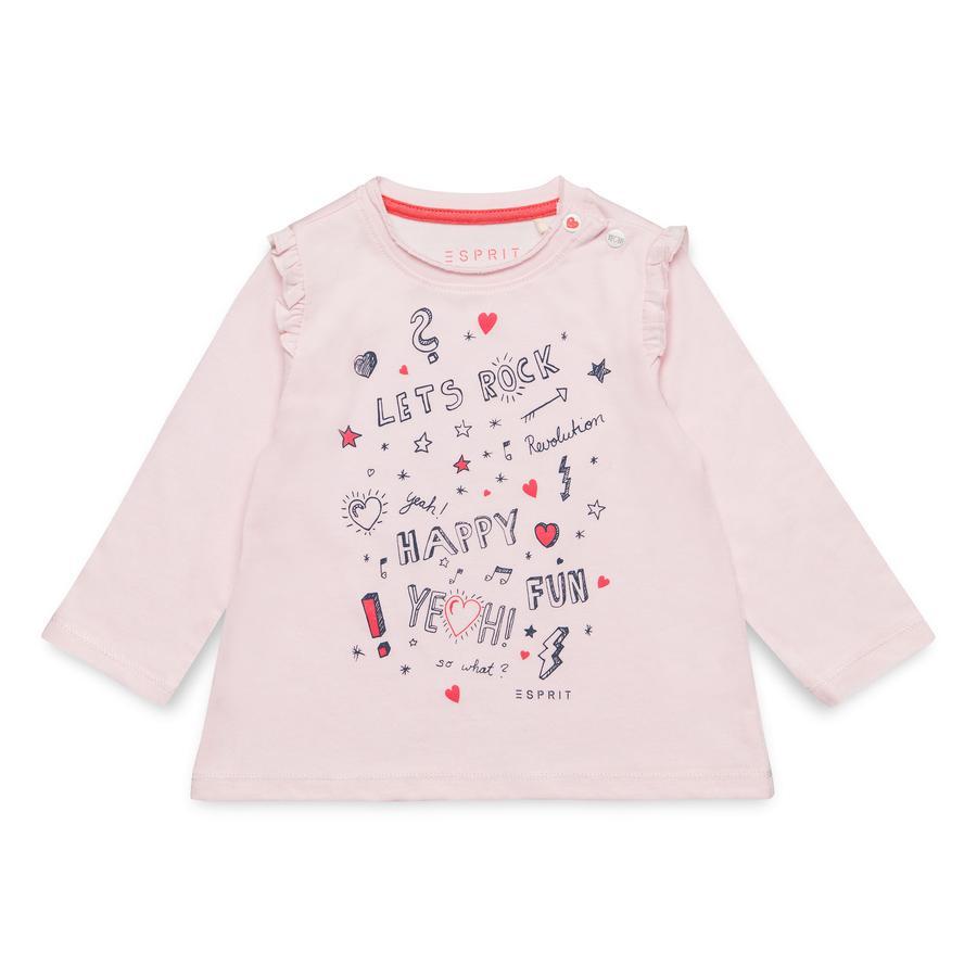 ESPRIT Girls košile s dlouhým rukávem pearl rose