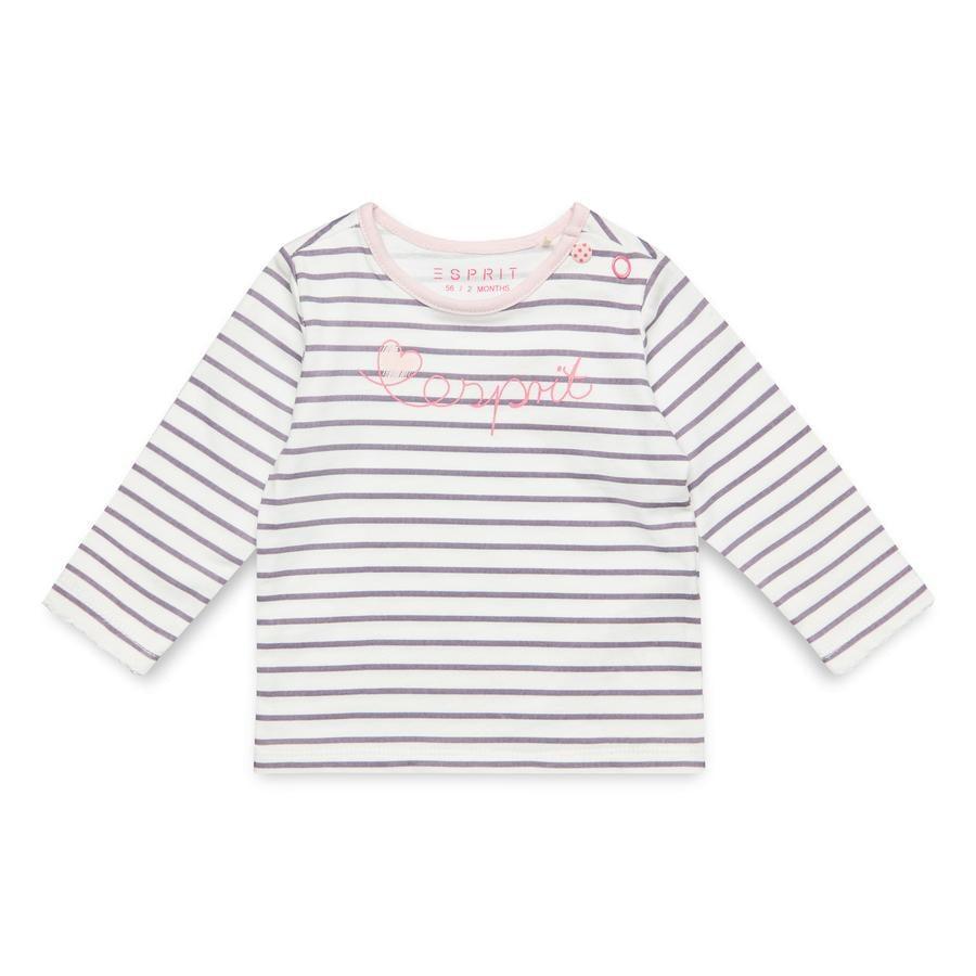 ESPRIT Girl s shirt met lange mouwen gebroken wit