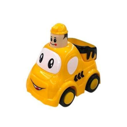 bieco Petite voiture camion benne press & go, jaune