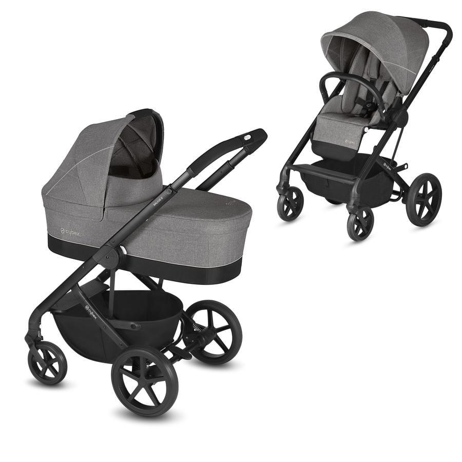 cybex GOLD Kinderwagen Balios S und Kinderwagenaufsatz Cot S Manhattan Grey-mid grey