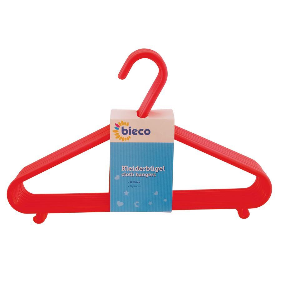 bieco Cintres enfant plastique rouge 8 pièces