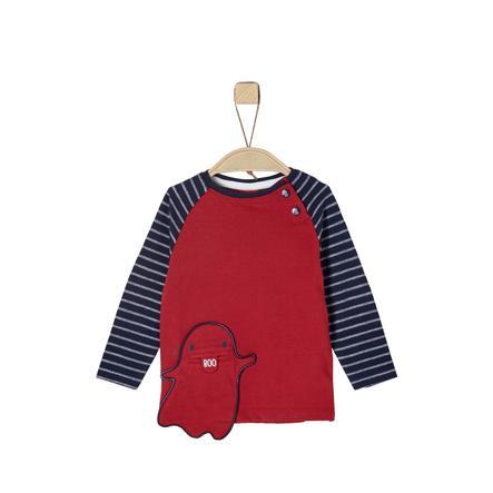 s. Olive r Chlapecké tričko s dlouhým rukávem červené