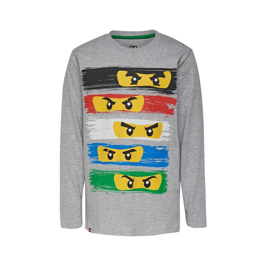 LEGO wear Langarmshirt LEGO Ninjago Ninja Masken Grey Melange