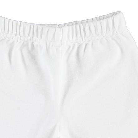 Pantalones de peluche EBI & EBI blanco puro