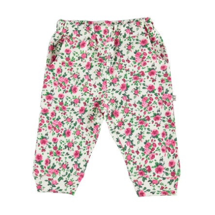 Spodnie bawełniane EBI i EBI z bawełny w różowym wzorze