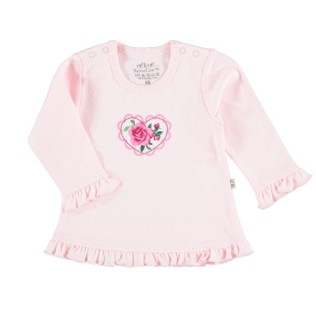 EBI & EBI camisa de manga larga con volantes rosa
