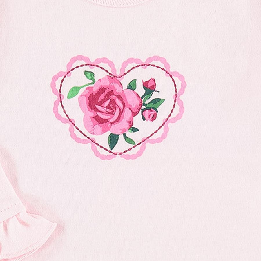 EBI & EBI koszula z długim rękawem i falbanami w kolorze różowym