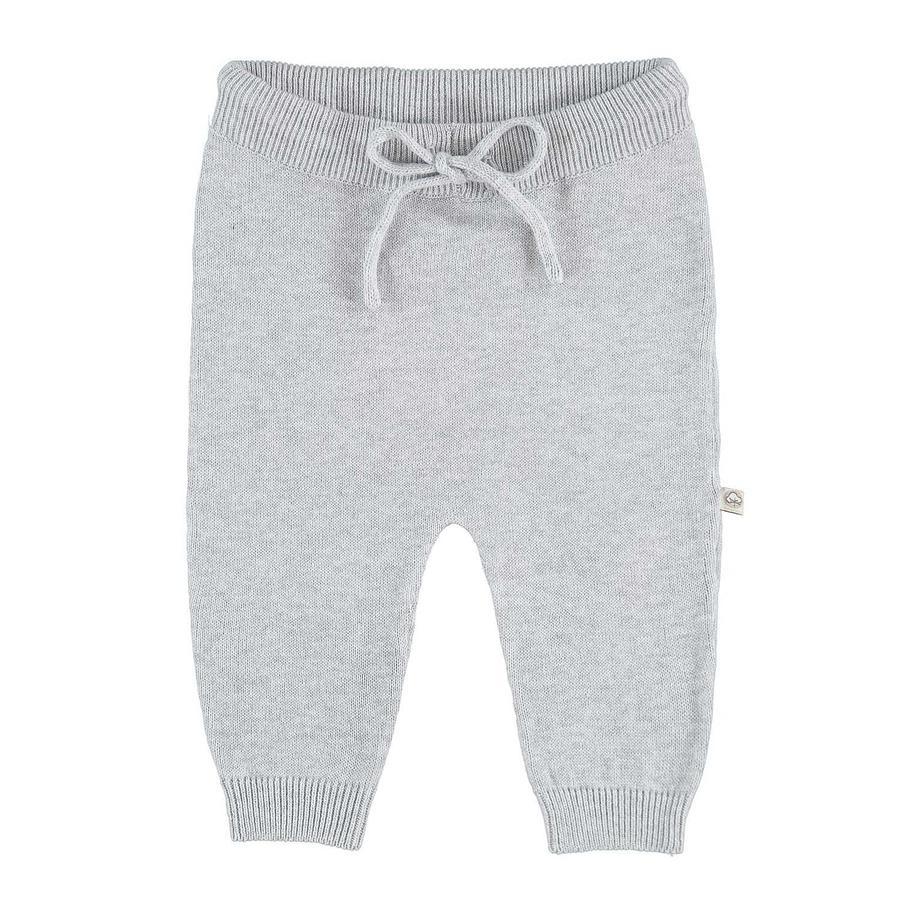 Pantalon tricot EBI & EBI gris clair