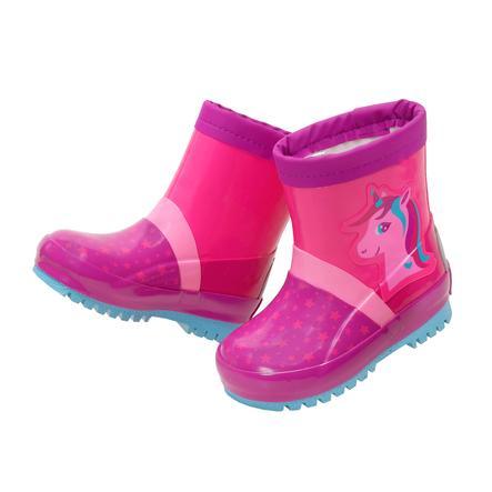 """maximo Botas de agua de caña corta """"unicornio pequeño"""" color cereza"""