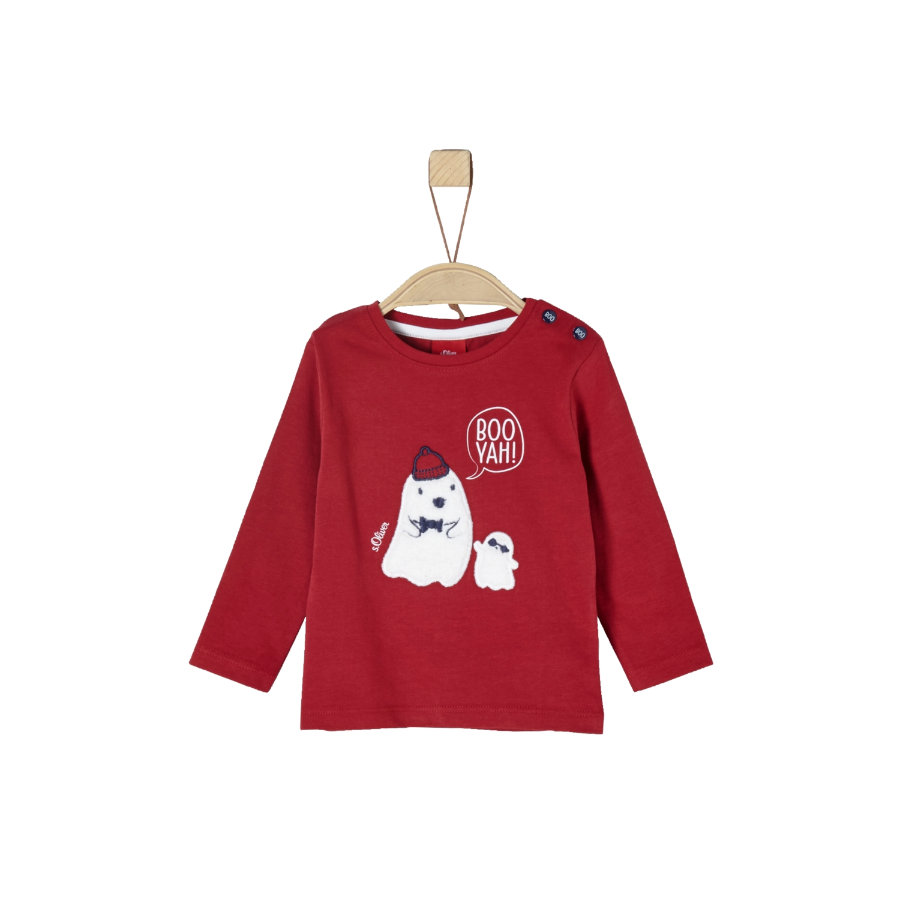 s.Oliver Girl camicia manica lunga s rosso