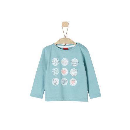s.Oliver Girl s shirt met lange mouwen turquoise