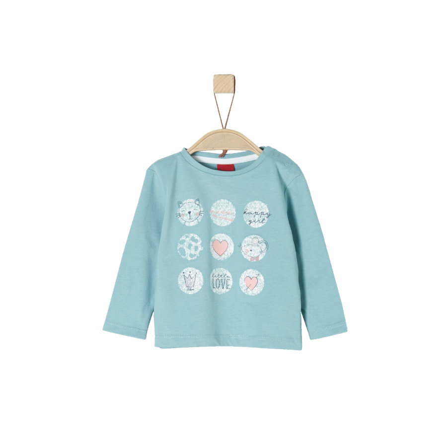 s.Oliver Girl chemise à manches longues turquoise