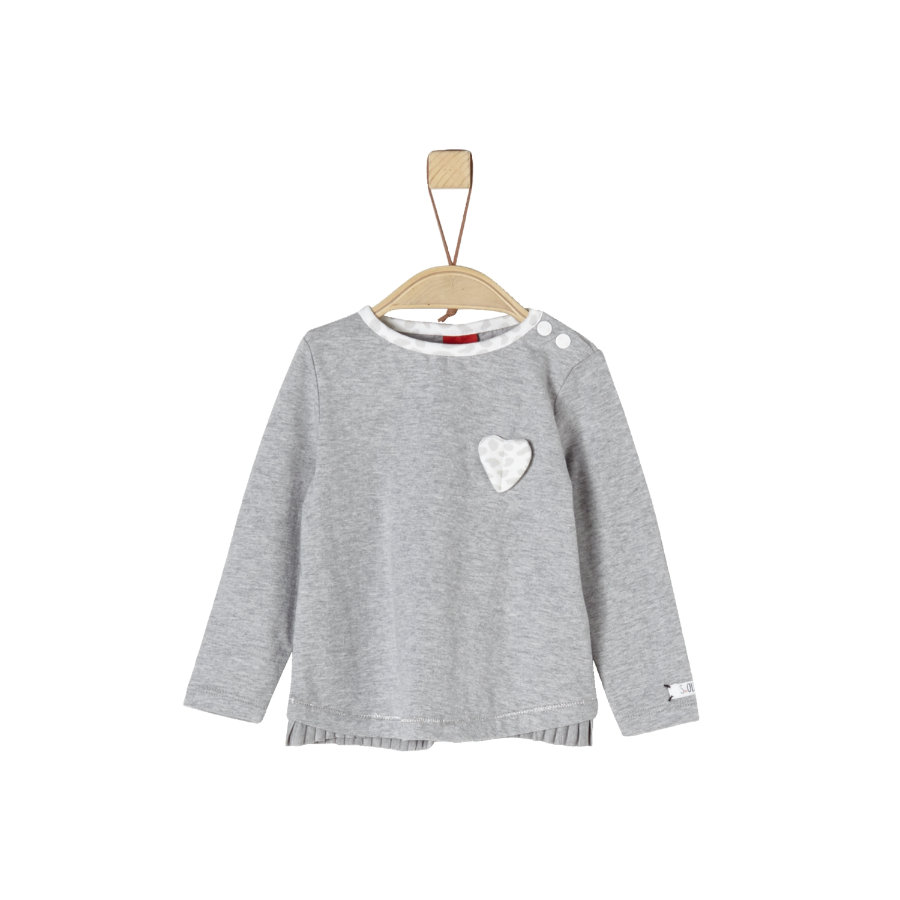 s.Oliver Girls Langarmshirt light grey melange
