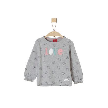 s.Oliver Girls Langermet skjorte lys grå melange
