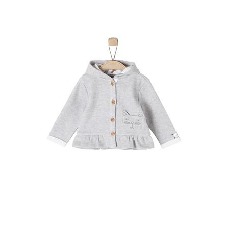 s.Oliver Girl s giacca felpa grigio chiaro melange grigio chiaro