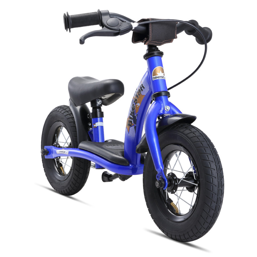 """bikestar Bicicletta senza pedali con freno 10"""" blu"""