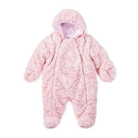 Sterntaler Girl s Mono con capucha de lana de piel rosa pálido